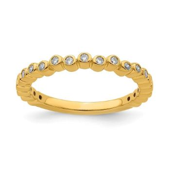 Picture of 14K Yellow Solid Gold Diamond Stackable Ring