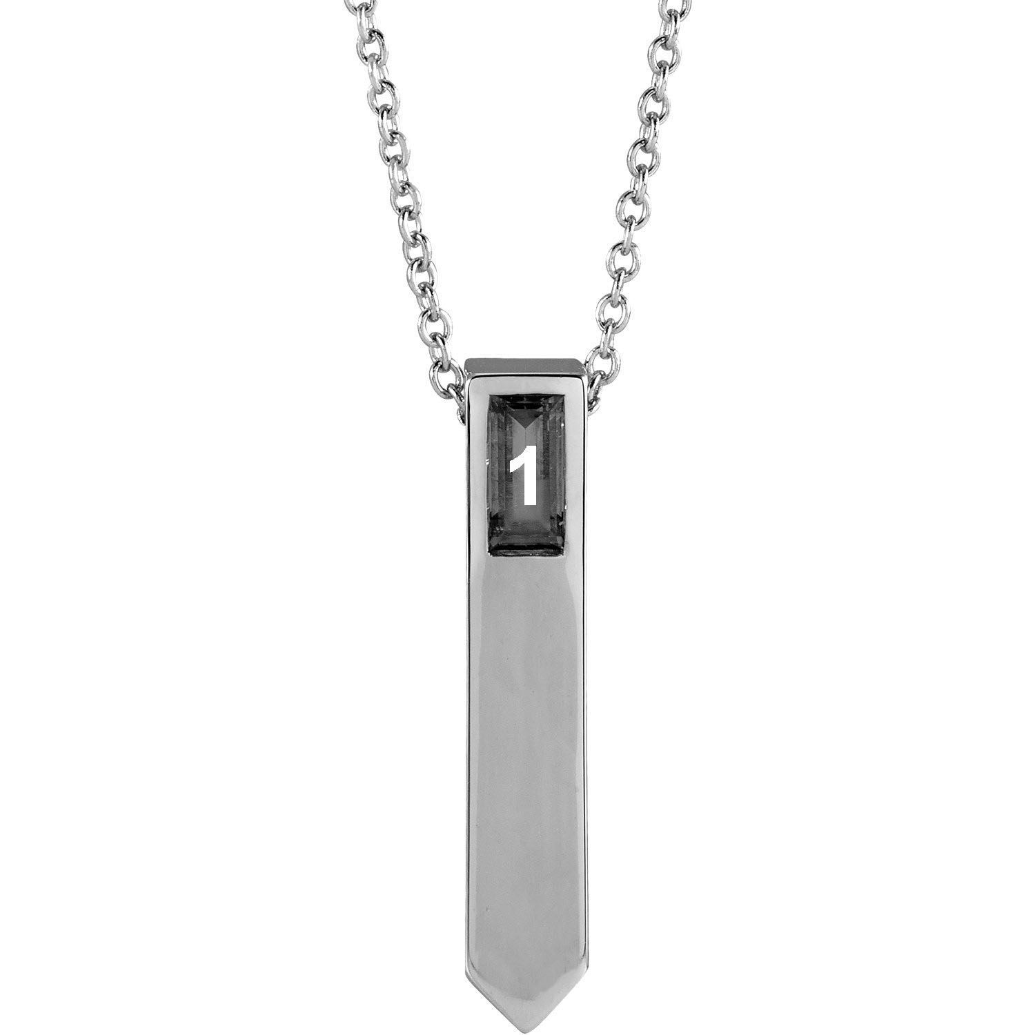 Picture of Family Geometric Necklace Silver 1 to 5 Stones