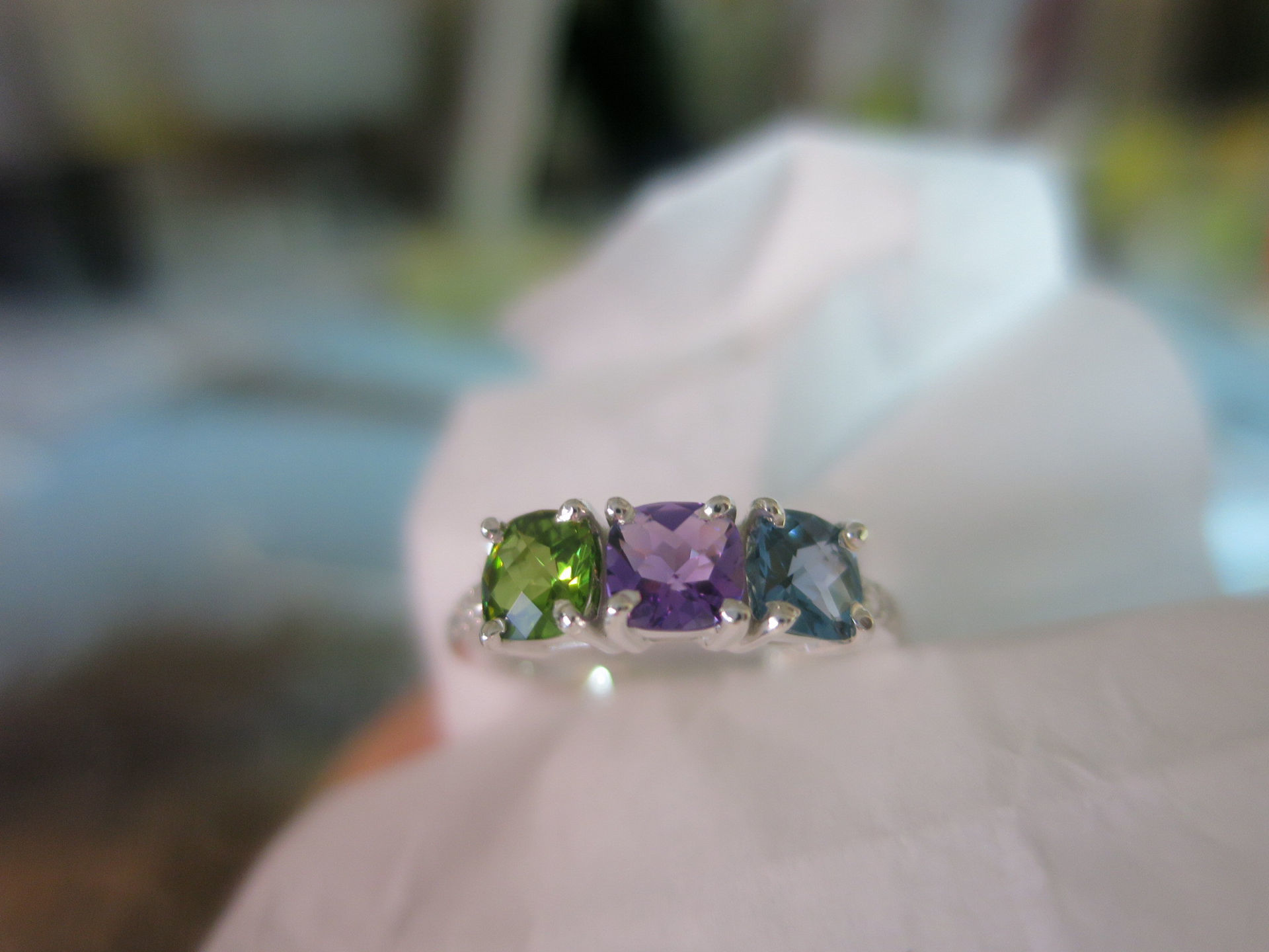 Picture of Silver 2 to 5 Antique Stones Mother's Ring