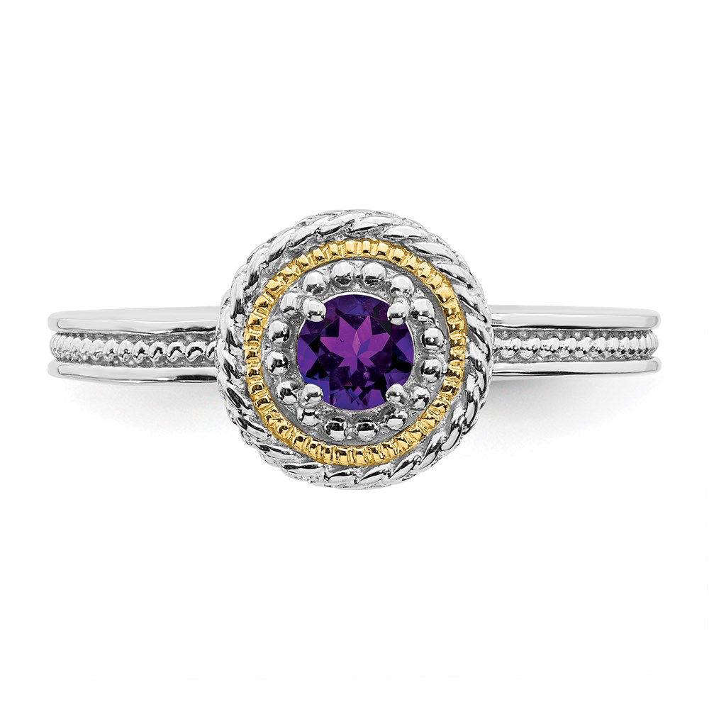 Picture of Silver Ring with Amethyst Stone