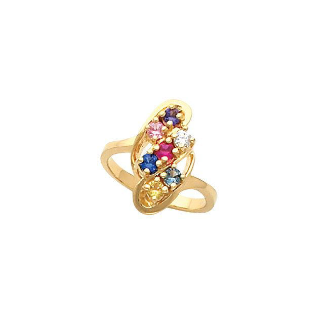 Picture of Silver 1 to 7 Round Stone Mother's Ring - copy